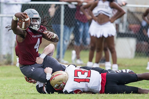 Two Taylors added up to one exciting Virginia Union University football victory as the Alvin Parker coaching era got underway.