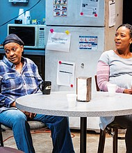 "Shelley B. Shelley and Tamera Lyn are coworkers at a dying Detroit auto plant who struggle to survive in a constantly changing society in Portland Artists Repertory Theater's production of ""Skeleton Crew,"" now playing through Sept. 30."