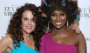 NaturallyCurly co-founder, Michelle Breyer (L) and recording artist Amara La Negra (R) seen at NaturallyCurly presents Texture On The Runway powered by Sally Beauty in New York City. (PRNewsfoto/NaturallyCurly