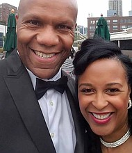 """Local film-maker, Don Howze, pictured with his wife, Daina Howze, produced """"Whole Foods Englewood, Changing Chicago's Food Desert,"""" a 30-minute documentary film that is being sold on Amazon at www.amazon.com/shop/dvideo79productions. Photo Credit: Provided by Don Howze"""