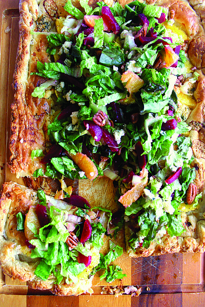 Orange Galette with Beet Gorgonzola Salad
