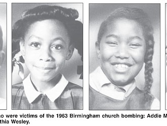 From left, the four girls who were victims of the 1963 Birmingham church bombing: Addie Mae Collins, Denise McNair, Carole Robertson and Cynthia Wesley.
