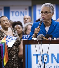 Cook County Board President, Toni Preckwinkle (pictured), recently announced that she would be joining the race for Mayor of Chicago. Photo Credit: Daniel X. O'Neil