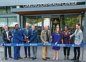 A grand opening ribbon is cut on Friday in celebration of the new Garlington Campus at 3036 N.E. Martin Luther King Jr. Blvd., a new home for the Garlington Health Center serving disadvantaged populations, and the new affordable Garlington Place apartments. Pictured from left are Cascadia Behavioral Healthcare President and CEO Derald Walker, Emmett Wheatfall, Andrew Colas, Mayor Ted Wheeler, Rep. Earl Blumenauer, Multnomah County Chair Deborah Kafoury, Michelle DePasse, and Michael Buonocore.