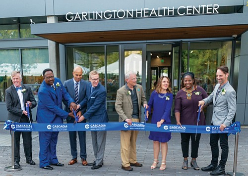 Governmental officials and community members joined Cascadia Behaviorial Healtchare's grand opening and ribbon cutting ceremony Friday to celebrate the new ...