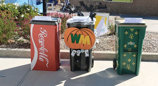 "Waste Management is seeking entries for its ""Cart Art"" contest, using curbside carts as part of an.."