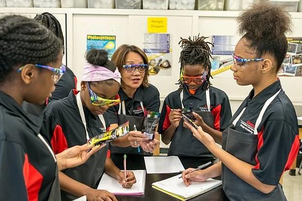 Dunbar Energy Academy students