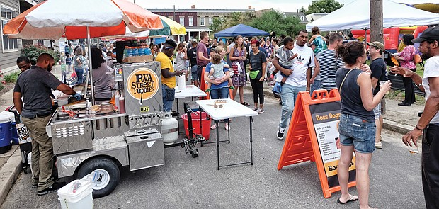 STAY RVA Fest: Hundreds of people enjoy food, music and festivities at the first STAY RVA Fest, a block party held last Saturday in South Side to celebrate Richmond students, teachers and good things about Richmond Public Schools. (Sandra Sellars/Richmond Free Press)
