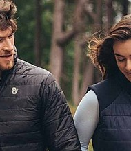 8K unveil the first collection of heated apparel on earth that allow you to control your temperature from your smartphone and charge your devices on the go. PRNewsfoto/8K Flexwarm