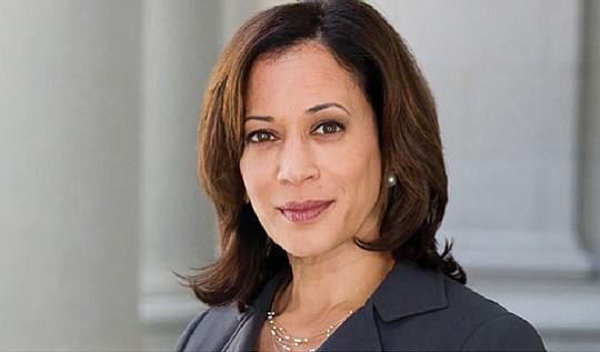 California Senator Kamala Harris, who is running for...
