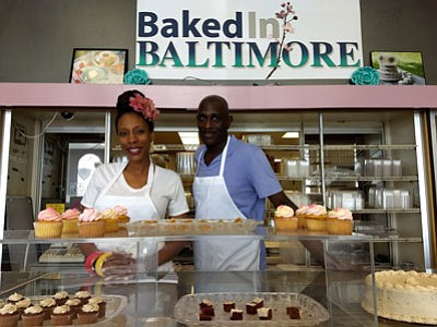 "In the run-up to the grand opening of her new ""Baked in Baltimore"" shop, lawyer and entrepreneur April Richardson wondered ..."