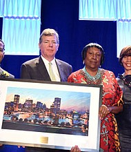 Al Hutchinson,Visit Baltimore president/CEO; John Frisch, chairman, Baltimore Convention and Tourism Board of Directors; Dr. Joanne M. Martin, president/co-founder, The National Great Blacks In Wax Museum); and Mayor Catherine Pugh Mayor, Baltimore City.