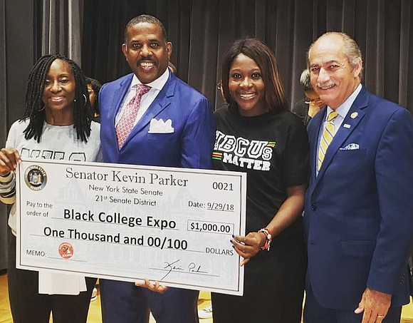 Saturday, Sept. 29, 2018, hundreds of college-bound high school students joined State Senator Kevin Parker and the National College Resources ...