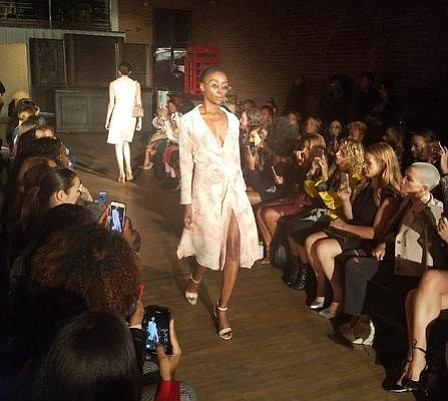 Model/preacher Lekesha Barnett steps out of the pulpit onto the runway in her debut at this year's New York Fashion ...