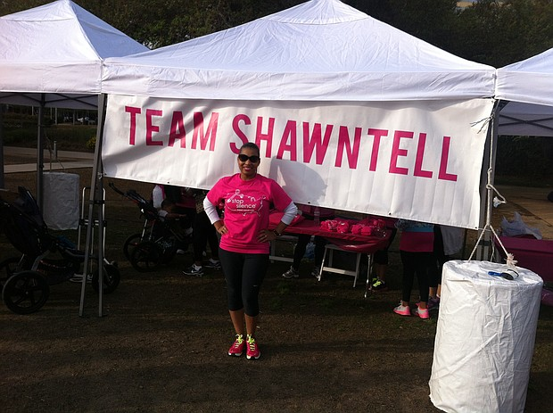 Shawntell participating in Sisters Network Breast Cancer Walk