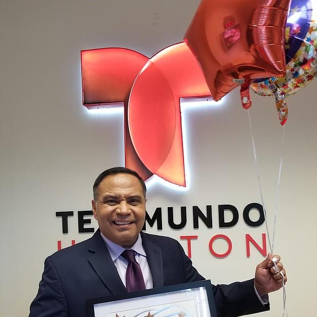 Telemundo 47 KTMD reporter Antonio Hernandez