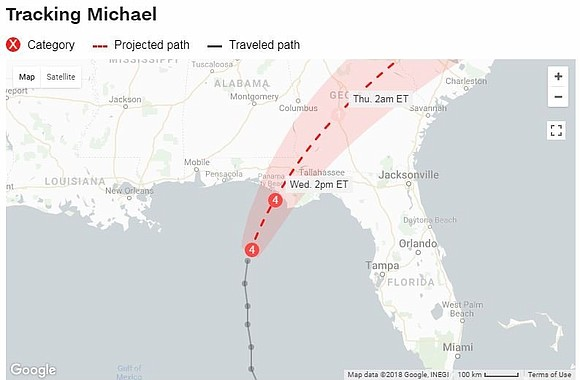 A terrifyingly powerful Category 4 Hurricane Michael was poised to become the strongest hurricane to hit the Florida Panhandle in ...