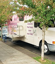 A mobile mammogram van from Tuality Healthcare is scheduled to stop at Vancouver Avenue First Baptist Church in north Portland on Saturday, Oct. 20.