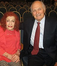 On July 11, 2018, Flo Woolston, 100 yr old sees actor Alan Alda, 82 yrs old after 80 yrs. at the National Press Club in Washington, D.C. to hear him speak. Woolston worked with Alan's father, Robert Alda in the 1930s at Minsky's Burlesque in New York. She knew him as a age two-year-old boy. She is one of the oldest living Minsky's Burlesque showgirls.