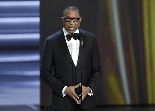 The TV academy's first African-American chairman is stepping down after two years, reports the Associated Press..