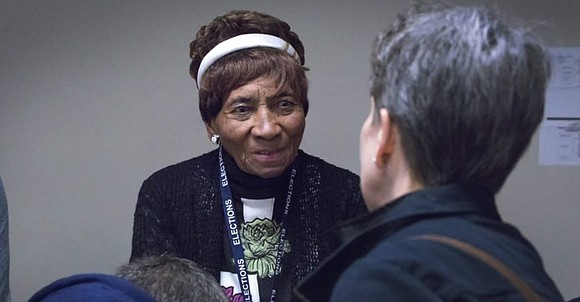 At the age 97, poll worker Laura Wooten of Lawrence, N.J. has been advocating for people to exercise their right ...