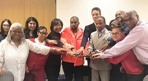 Alderman of Chicago's 8th Ward, Michelle Harris, recently met with Kanye West and Jerald Gary, owner of the Avalon Regal ...