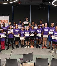 Forty girls gathered for a basketball clinic and Q&Al last Saturday in Boston