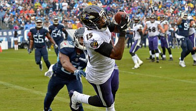 The Baltimore Ravens signed wide receiver Michael Crabtree to be their leading pass catcher and to make things easier for ...