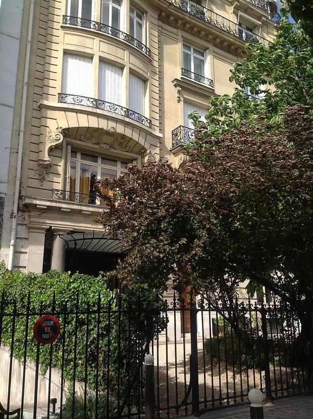 Callas's apartment in Paris at 36 Rue George Mandal