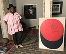 Victor Dlamini in his Johannesburg studio