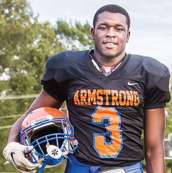 Armstrong High School's Edward Curtis Jr. plays his rugged brand of football with more than just flesh and bone. The ...