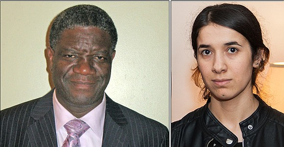 Dr. Denis Mukwege, a surgeon in the Democratic Republic of Congo, and Nadia Murad, a U.N. Goodwill Ambassador, were both ...