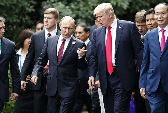 President Donald Trump said Tuesday that he would likely meet with Russian leader Vladimir Putin at next month's Armistice centenary ...