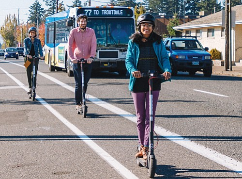 The results of a survey conducted to evaluate the riding habits, perceptions and safety of Portland's e-scooters pilot program show ...