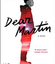 """""""Dear Martin"""" was chosen this year's """"One Book Baltimore,"""" a citywide initiative designed to promote literacy and community discussion."""