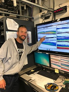 Garritt set sail to assist scientists on a 12-day Pacific Hake Survey in the Pacific Northwest where he participated as ...