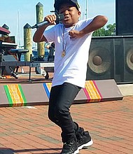 """Local kid rapper, """"Young Dylan,"""" who has appeared numerous times on The Ellen Show, was a headliner the 2018  Kunta Kinte Heritage Festival."""