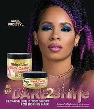 Ampro Industries recently announced that their DIY-inspired Shine 'n Jam® Black Castor & Flaxseed Oil Styler is now available at Variety Wholesale and select Dollar General stores nationwide.