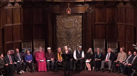 Several interfaith leaders, elected officials and people of all backgrounds gathered in Portland Sunday to support the victims of a ...