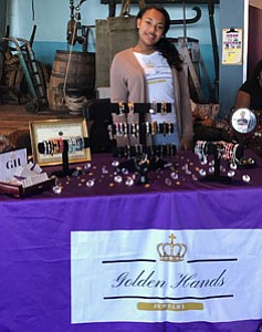 Makayla Martin, age 14, will be among a group of youth competing for prizes and selling  their products at the Biz Kidz Academy's Market Day on Saturday, November 3, 2018 at Long Reach High School in Columbia, Maryland from noon to 5 p.m. Her business Golden Hands Jewelry was established in 2017.