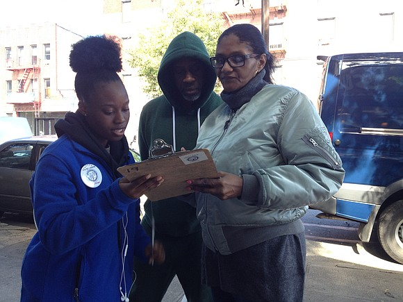 As Myriame Satine of Brownsville, Brooklyn walked home from a supermarket in East Flatbush, two weeks ago she heard a ...