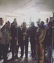 Some of the musicians in the Albina Soul Revue at rehearsal.