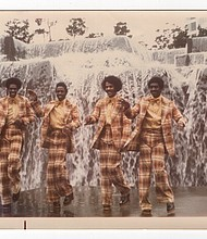 The Beyons at Portland State University Fountain, 1976.