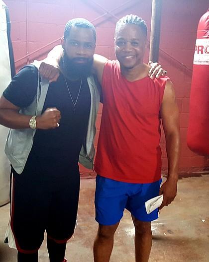 Kedrick Brown and Cuba Gooding jr