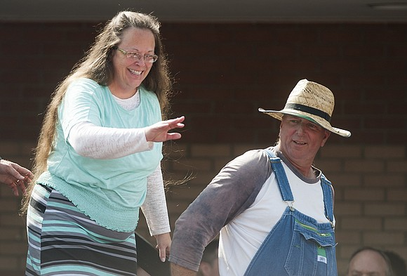 Republican Kim Davis, the Kentucky court clerk who became a conservative Christian heroine for refusing to sign same-sex marriage certificates ...