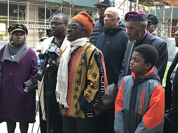 """We are angry! We are livid and we want an arrest!"" shouted Assemblyman Charles Barron outside the African Burial Ground ..."