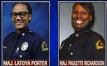 Two majors in the Dallas Police Department were fired by Chief Renee Hall.