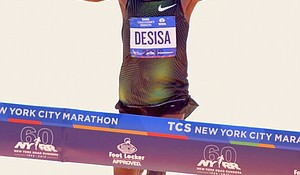 Lelisa Desisa and Daniel Romanchuk were victorious in the men's elite division and men's wheelchair race at Sunday's TCS NYC Marathon.