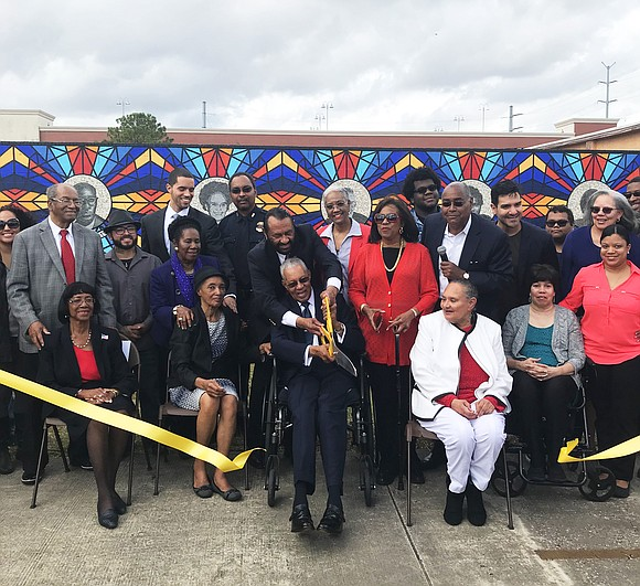 "Harris County Commissioner Rodney Ellis, Congresswoman Sheila Jackson Lee, Congressman Al Green and community leaders unveiled the ""Sacred Struggles/Vibrant Justice ..."
