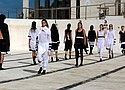 Resort '19 black and white designs by Ten Pieces at Australia Fashion Week